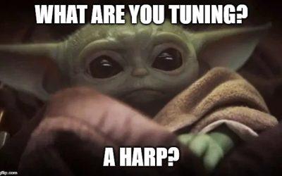 Le Mandalorien à la harpe